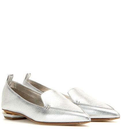 Nicholas Kirkwood Botalatto Metallic Leather Loafers For Spring-Summer 2017