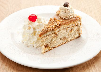 Irish Coffee Cake. Layers of vanilla sponge and whirls of soft caramel, blended in light espresso cream at Spur Steak Ranches   http://www.spur.co.za/menu/desserts