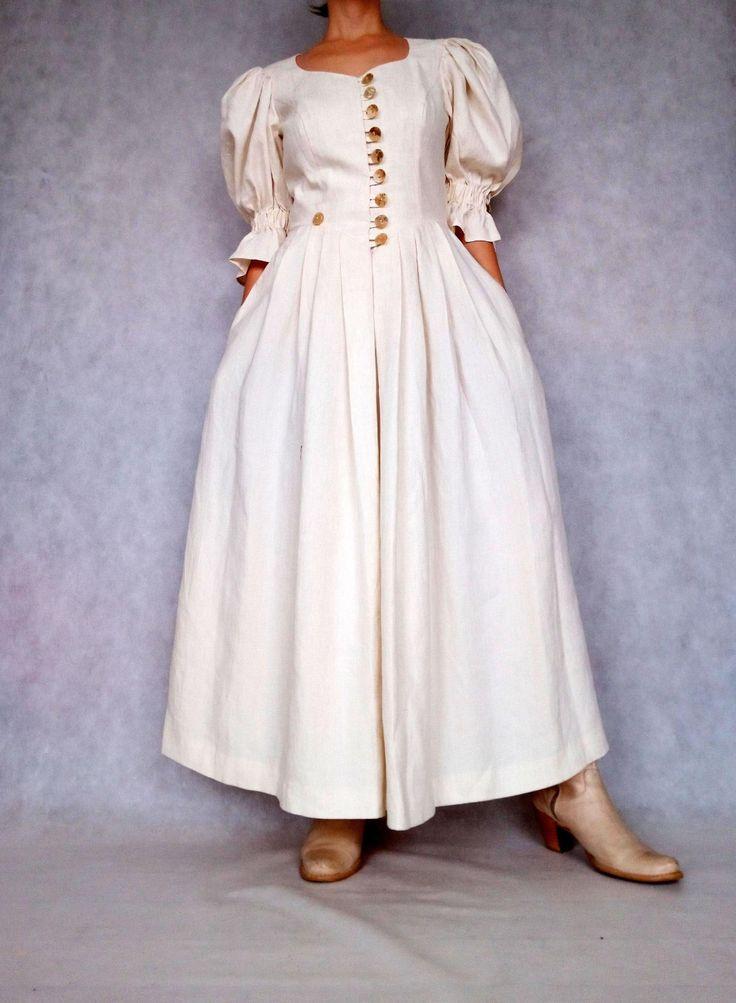 vintage dirndl kleid kleine mittlere groesse dirndl leinen etsy