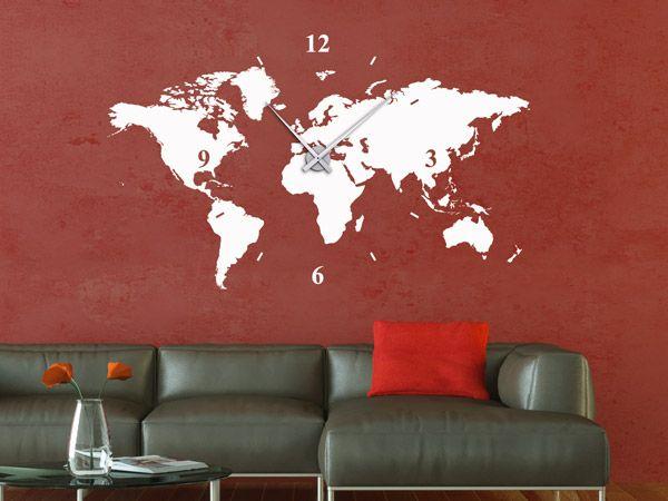 19 best xxl uhren gro e wanduhren als wandtattoos images on pinterest large clocks for walls. Black Bedroom Furniture Sets. Home Design Ideas
