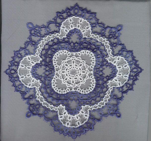 Sue Hanson's Tatting Patterns. Robert found the actual pattern at http://home.vicnet.net.au/~castats/Doilies.html