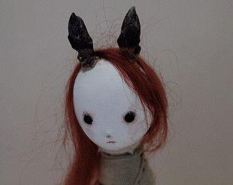 OOAK бумаги Клей Искусство куклы - Руна