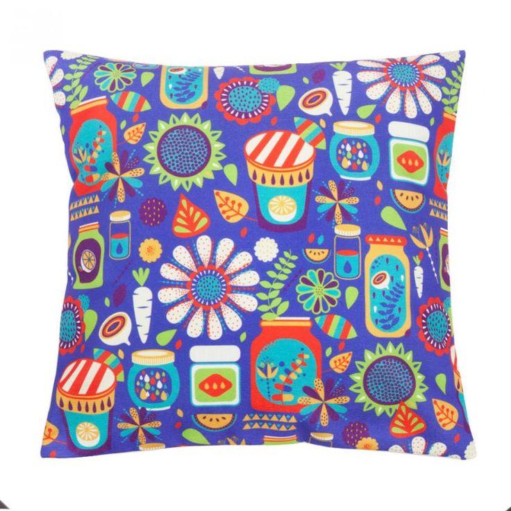 Buy Chumbak Mad Jars Purple Cushion Cover