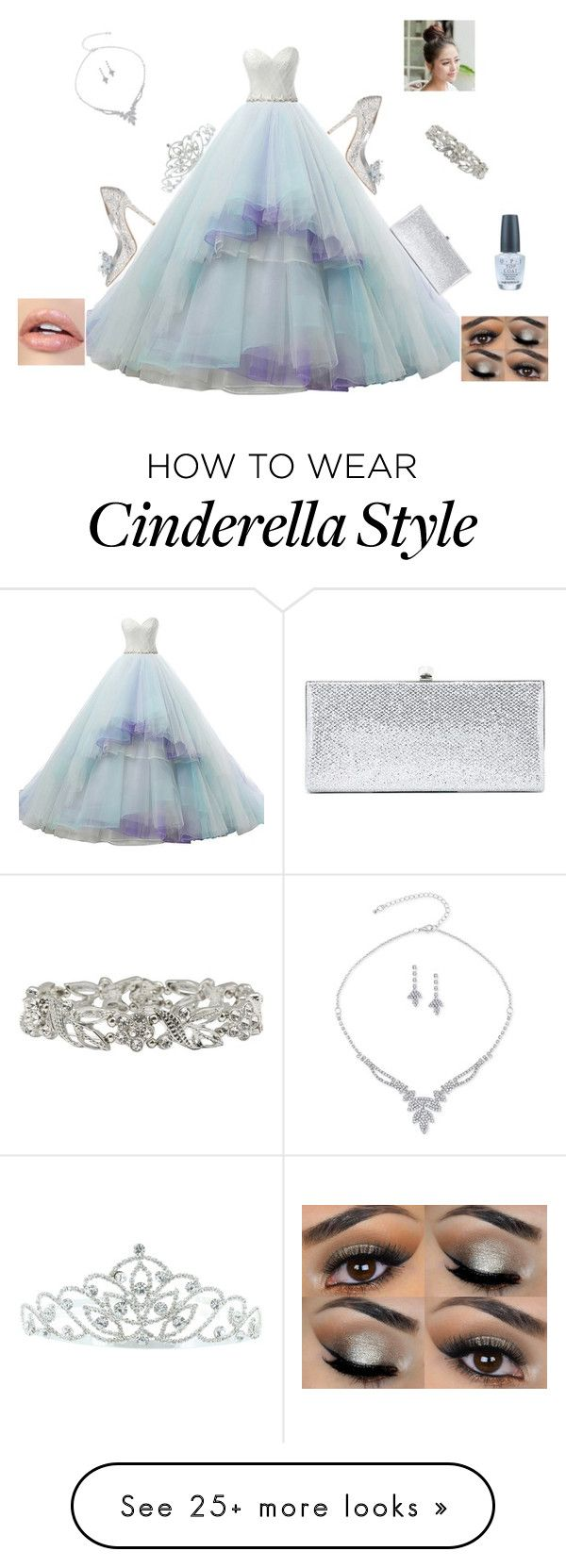 """""""Cinderella Prom Look"""" by phat-panda on Polyvore featuring Jimmy Choo, Kate Marie, M&Co and OPI"""