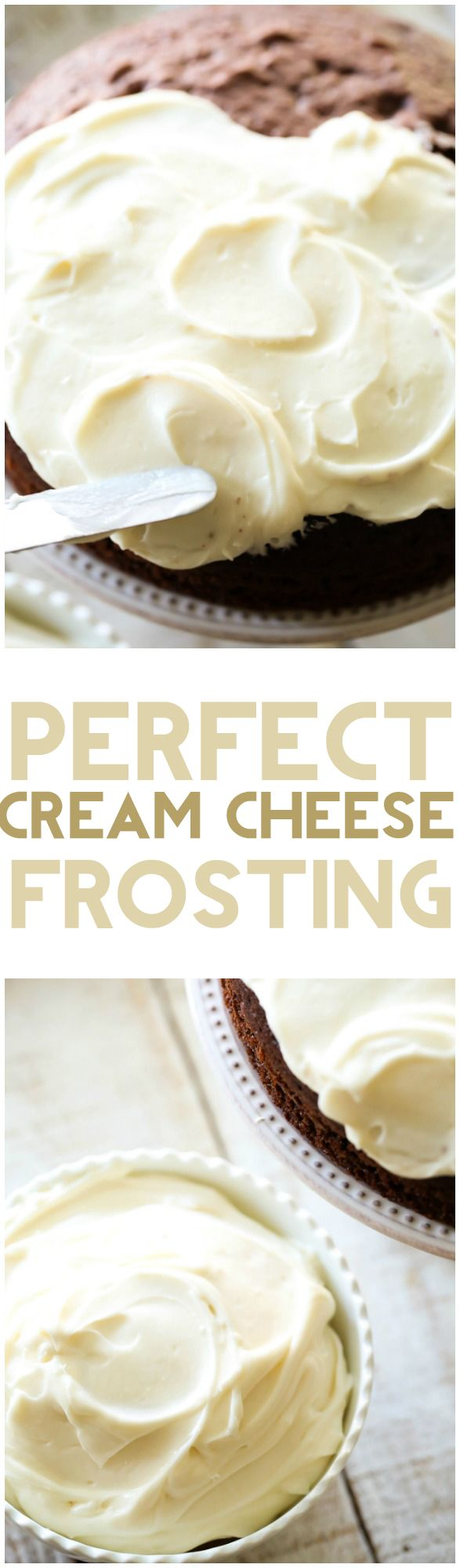 Perfect Cream Cheese Frosting - This cream cheese frosting is perfection! Smooth, fluffy and absolutely delicious!