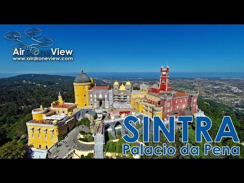 Palacio da Pena. Sintra, Portugal - Air Drone View