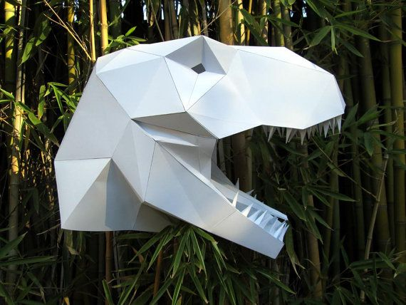 Make your own T-Rex mask from paper, card stock, or cardboard with this PDF template!    The mask is designed to simply slip over the head and is