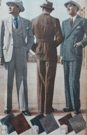 1937 Men's Suits for Spring- 1930s men's fashion