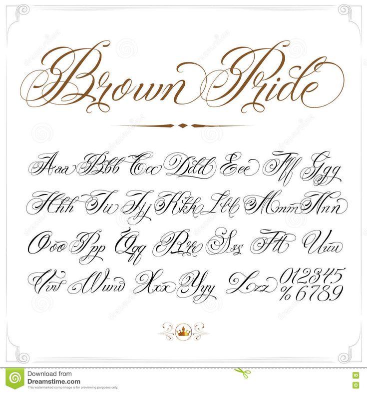 Brown Pride Tattoo Font – Descarga De Over 66 Millones de fotos de alta calidad …