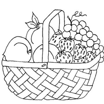 find this pin and more on arabic alphabets crafts coloring pages by sumayyas fruit basket coloring pages