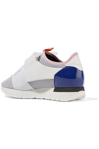 Balenciaga - Race Runner Leather, Mesh And Neoprene Sneakers - White - IT41