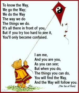 Growing up my parents never read me Winnie the Pooh, but they did read me The Tao of Pooh.