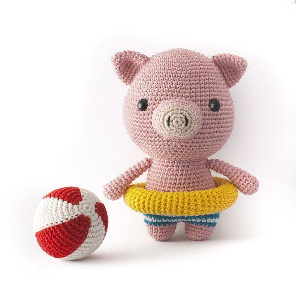 Häkelanleitungen - Billie das Schwein Amigurumi Häkelanleitung PDF - ein Designerstück von Mariska bei DaWanda