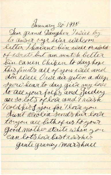 Sample Time Capsule Letter to Stranger
