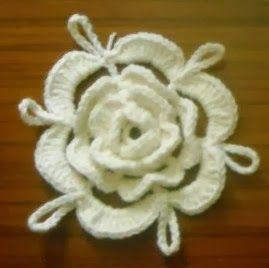 Graficos y Crochet: Blusa de flores