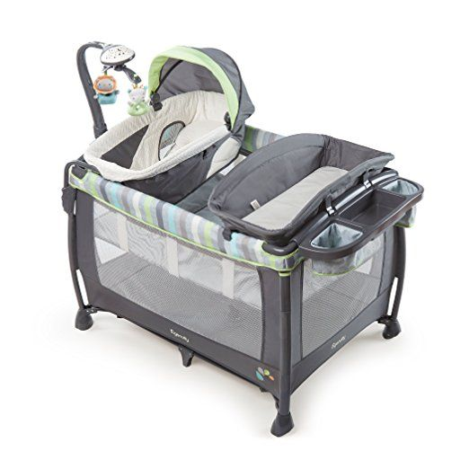This play yard is smart and simple - just like it's name. Simple because it's fast and easy to remove and machine-wash the three pieces that need it most: the mattress, changing table and Dream Centre. Smart because it entertains baby with a soothing light show and folds faster than typical play yards because it can be folded without moving the bassinet.