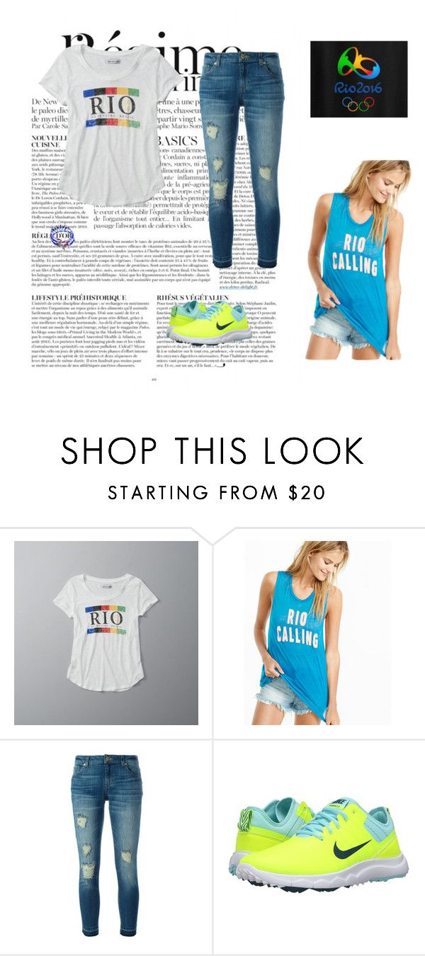 """""""Rio Olympics"""" by winterfeather ❤ liked on Polyvore featuring Anja, Abercrombie & Fitch, Express, MICHAEL Michael Kors and Nike Golf"""