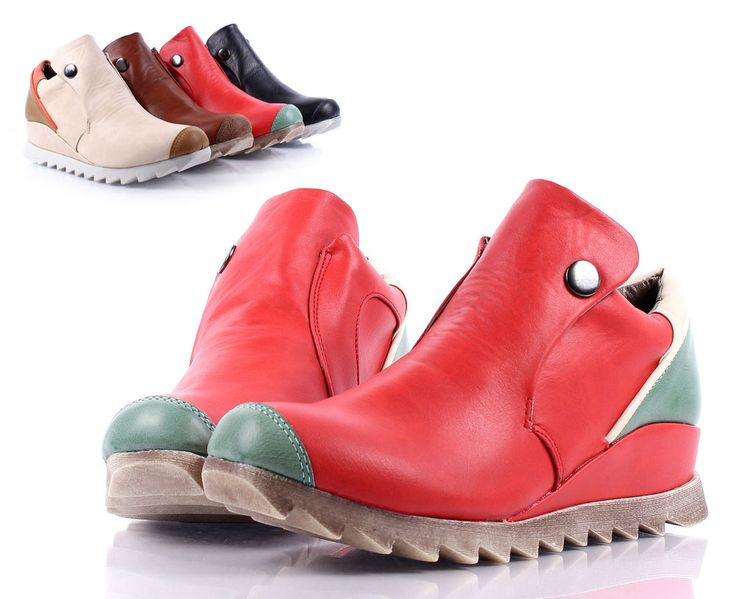 Red Multi New Sporty Button Fashion Women Flats Ankle Boots Shoes Size 6 #Other #AnkleBoots