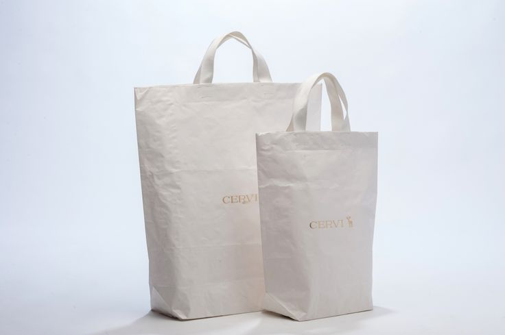 White Shoppers with gold print - CERVI