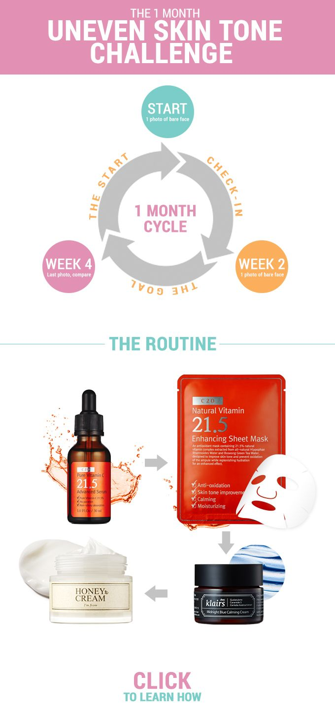 For one whole month, the challenge is to focus your skincare routine on achieving clearer, brighter skin. Rid yourself of dark spots on skin in only 1 month - http://www.wishtrend.com/glam/dark-spots-on-skin/