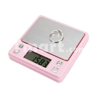 100g/0.01g Portable Digital Pocket Scale for Jewelry/Gold/Weed P321 Pink 2 x AAA g/ozt/ct/oz,$9.94
