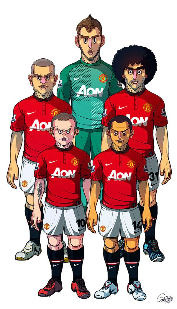 Manchester United / Liverpool by Sakiroo Choi, via Behance