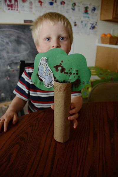 Crafts and activities to go with the story of Zacchaeus