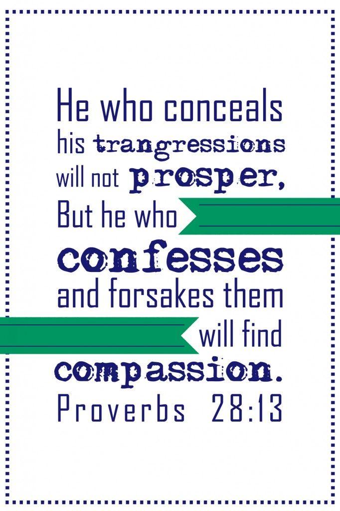 Proverbs 28:13 #ProverbsChallenge