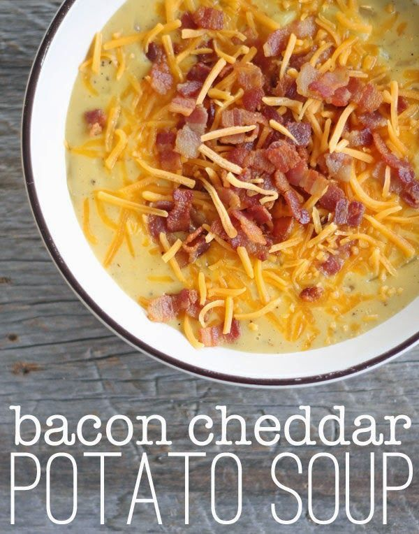 : Bacon Cheddar Potato Soup: Cheddar Potatoes, Fast Meal, Fast Soup ...