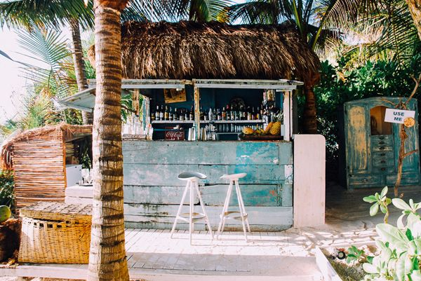the bar at Be Tulum | Lucy Laucht for LaurenConrad.com