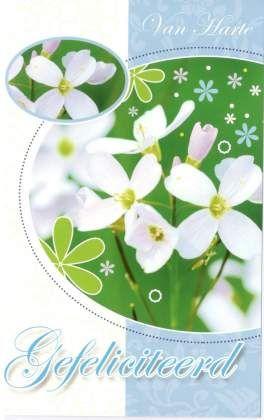 Felicitatiekaart bloemen
