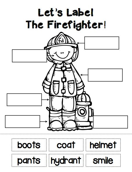 """Sample student labeling page from """"The People In My Community"""" pack.  Read and learn about all sorts of community helpers... from police officers to doctors and many more!  ($)  #firefighters  #communityhelpers"""