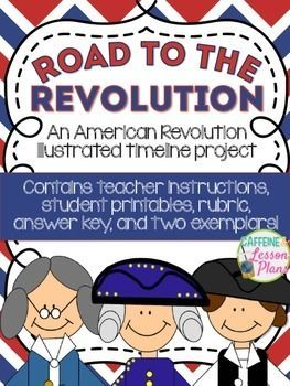 The Road to the Revolution: an Illustrated Timeline project.  A fun and creative way to teach the events leading up to the American Revolution.: