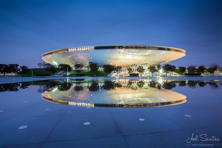 Looking like a flying saucer, the Mercedes-Benz Arena, formerly known as the Shanghai World Expo Cultural Center, is an indoor arena located on the former grounds of Expo 2010 in Pudong, Shanghai, China.