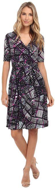 Donna Morgan D3623M Multi-Print Wrap Dress