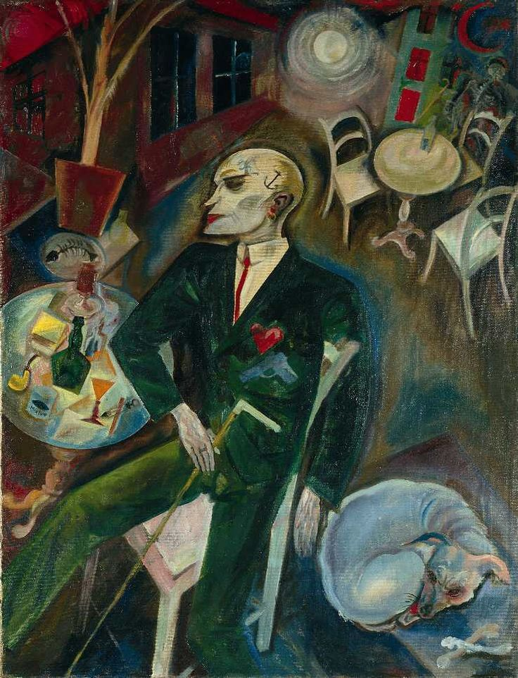 George Grosz – Der Liebeskranke / The Lovesick Man, 1916, Oil on canvas, 100x77cm | Kunstsammlung Nordrhein-Westfalen, Düsseldorf