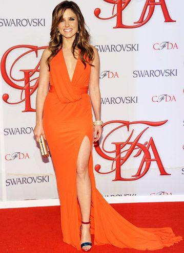Sophia Bush in tangerine - looks good!!