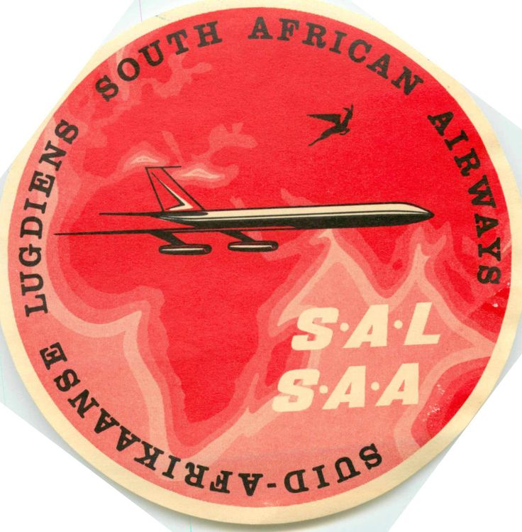 South African Airways Label