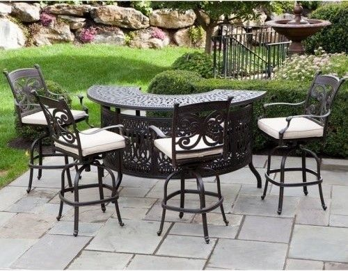 Bar Set Outdoor Aluminum Patio   Foter