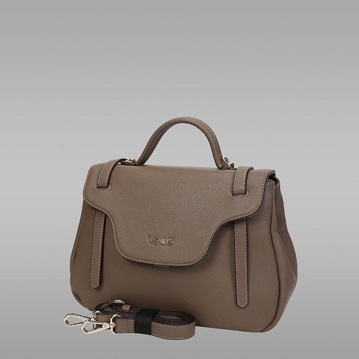 Khakhi Colour PU Leather Handbag
