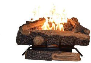 a ventless fireplace logs 24 in oakwood log set natural gas fire vent free insert