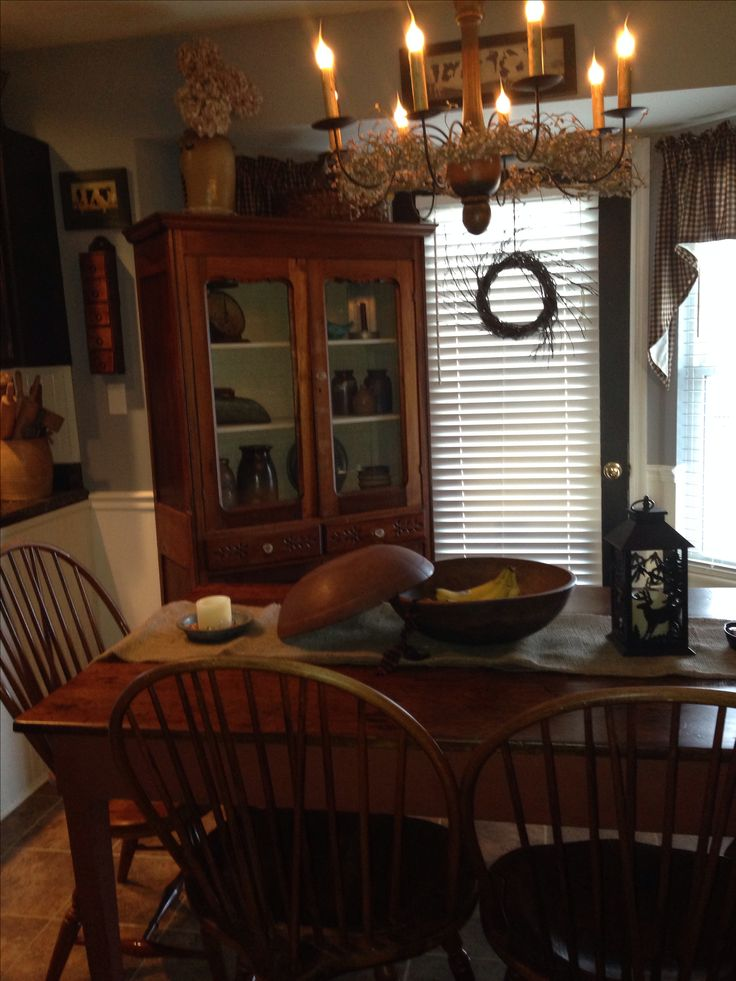 Primitive kitchen my dream crib pinterest primitive for Primitive dining room ideas