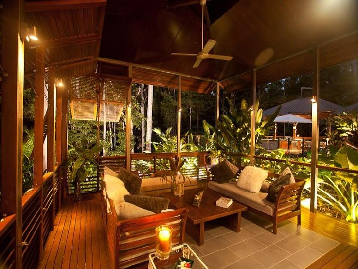 Multi-level outdoor living design with deck & decorative lighting using grass - Outdoor Living Photo 1492728
