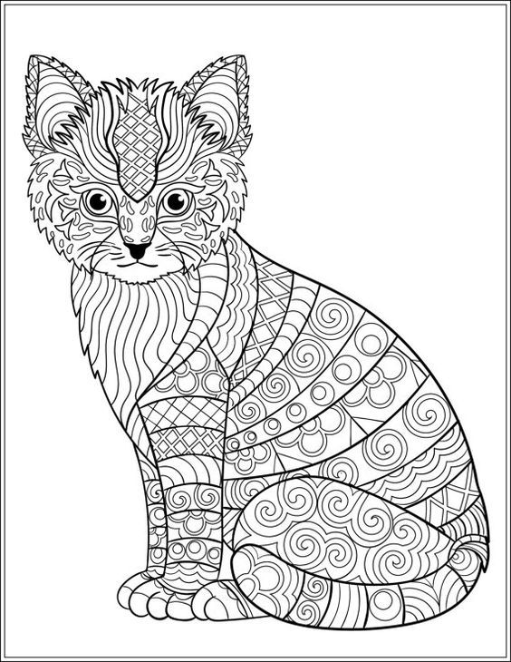 Cat Stress Relieving Designs Patterns Adult By LiltColoringBooks Coloring PagesColoring SheetsColoring