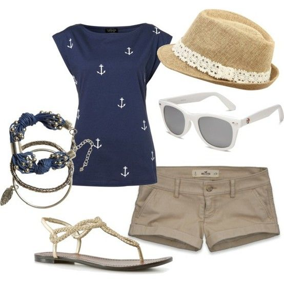 Perfect boating attire. I need to recreate this!
