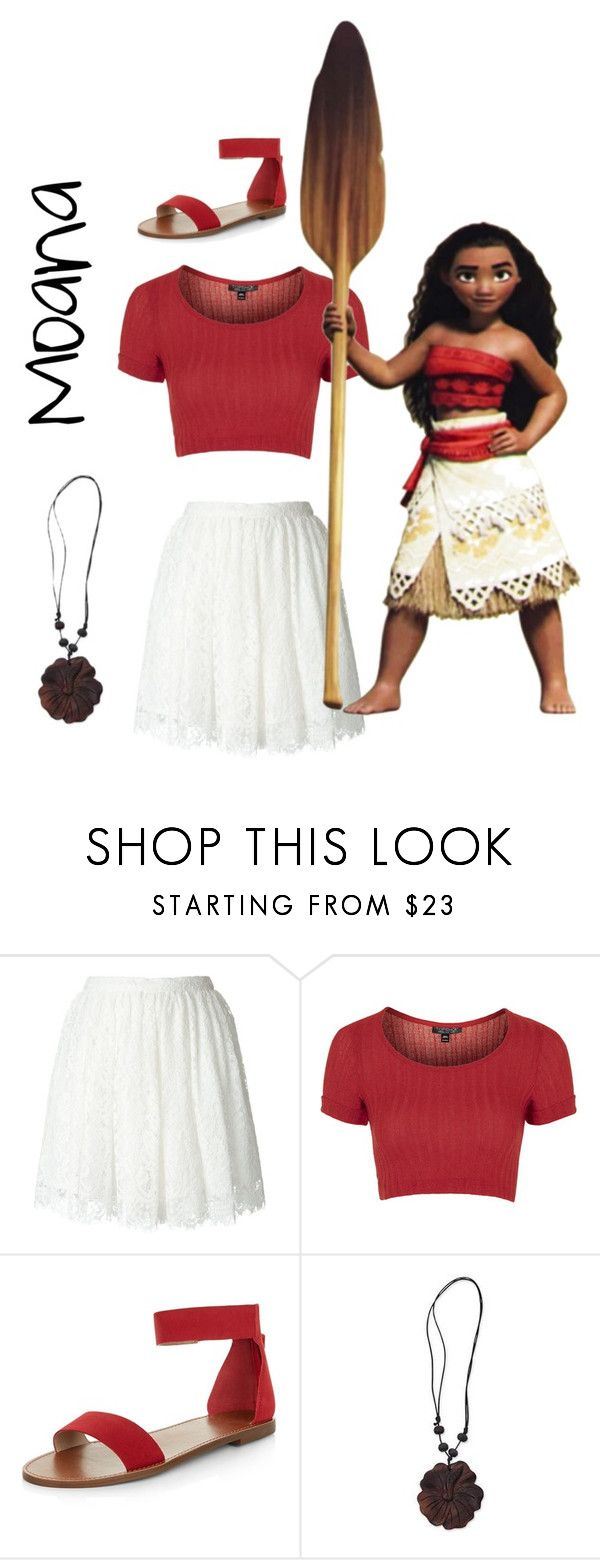 """Moana inspired"" by kaiaxox ❤ liked on Polyvore featuring IRO, Topshop, Disney, New Look, NOVICA, disney, disneybound, Disneyprincess and moana"