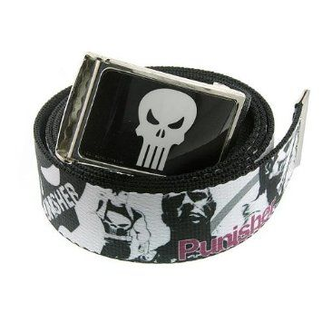 10% discount for re-pin! $36 +S/H from #TheSingingSpaniel's #Collectibles - The #Punisher #White #Skull #Buckle w/ #Black #Soldier #Screenprint #Woven #Webbed #Belt! - #Friction #Clasp - #Officially #Licensed from #Marvel #Comics! - #superhero #crimefighter - #Bling & #style