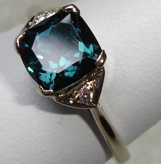Beautiful Diamond and Blue Tourmaline Ring Jaipur Rajasthan India