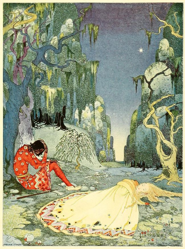 By Virginia Frances Sterrett, from Old French Fairy Tales. Again, I don't know the tale, but wow to the art!!