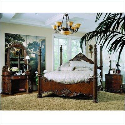 Pulaski Edwardian Wood Poster Bed 5 Piece Bedroom Set Pl Ed Pkg2